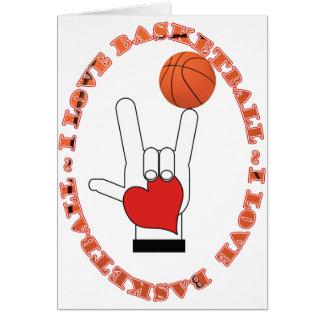 I LOVE BASKETBALL CARD