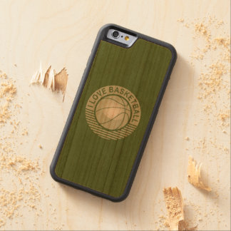 I love basketball carved cherry iPhone 6 bumper case