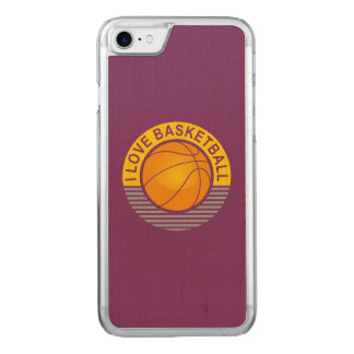 I love basketball carved iPhone 7 case