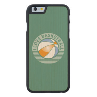 I love basketball carved maple iPhone 6 case