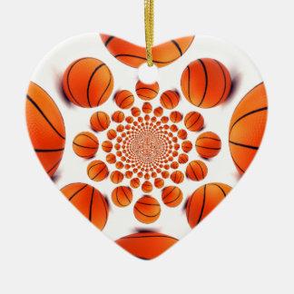 I love basketball ceramic ornament