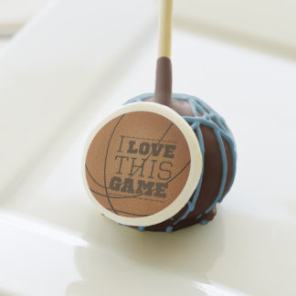 I Love Basketball Chocolate Cake Pops