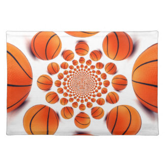 I love basketball cloth placemat
