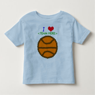 I love Basketball Customized Toddler T-shirt