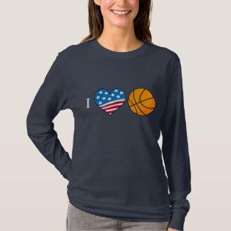I Love Basketball dark tshirt