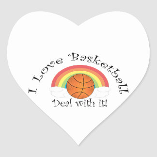 I love basketball deal with it stickers