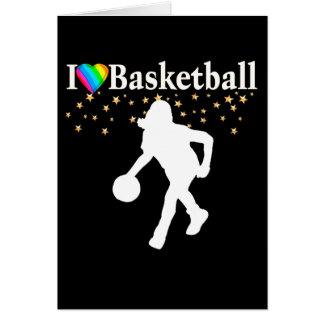 I LOVE BASKETBALL DESIGN CARD