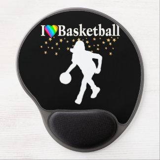 I LOVE BASKETBALL DESIGN GEL MOUSE PAD