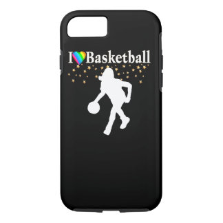 I LOVE BASKETBALL DESIGN iPhone 8/7 CASE