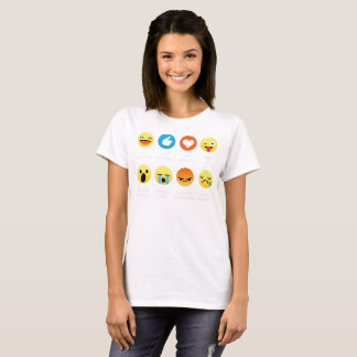 I Love Basketball Emoji Emoticon Graphic Tee Shirt