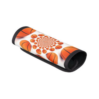 I love Basketball game Luggage Handle Wraps