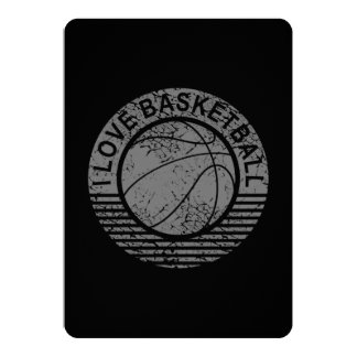 I love basketball grunge card