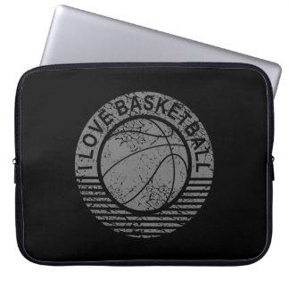 I love basketball grunge laptop sleeve