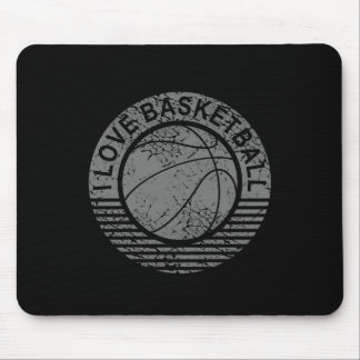 I love basketball grunge mouse pad