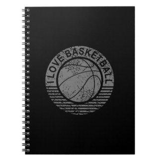 I love basketball grunge note book