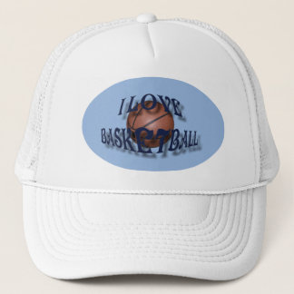 I LOVE BASKETBALL-HAT TRUCKER HAT
