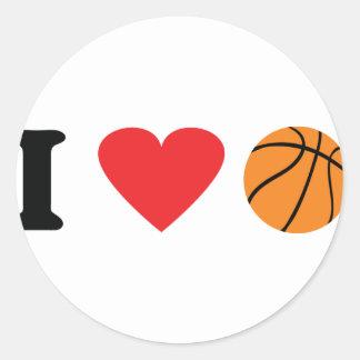 I love basketball icon sticker