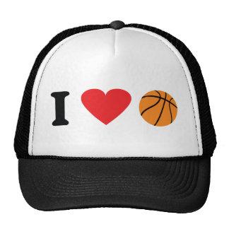 I love basketball icon trucker hat