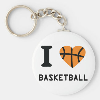 I love basketball keychain