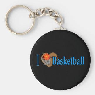 I Love Basketball Keychain