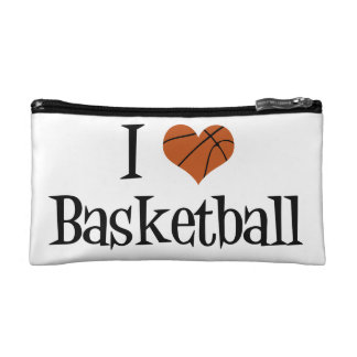 I Love Basketball Makeup Bag