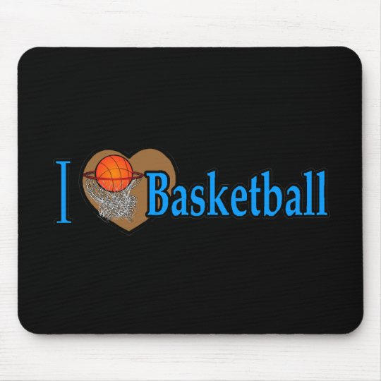 I Love Basketball Mouse Pad