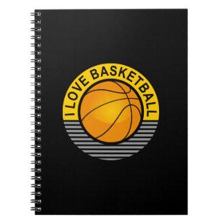 I love basketball spiral note book