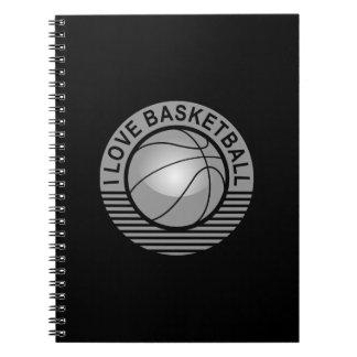 I love basketball spiral notebooks