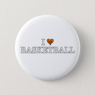 I Love Basketball Pinback Button