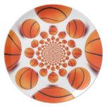 I love basketball plate