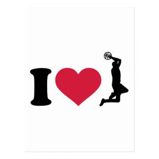 I love Basketball player Postcard