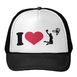 I love Basketball Player Trucker Hat