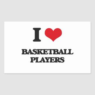 I love Basketball Players Sticker