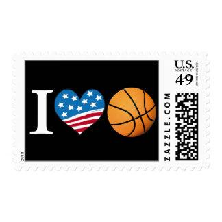 I Love Basketball - postage