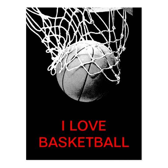 I Love Basketball Postcard