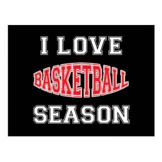 I Love Basketball Season Postcard