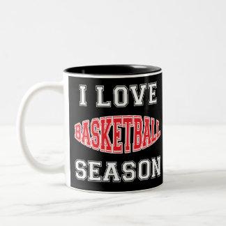 I Love Basketball Season Two-Tone Coffee Mug
