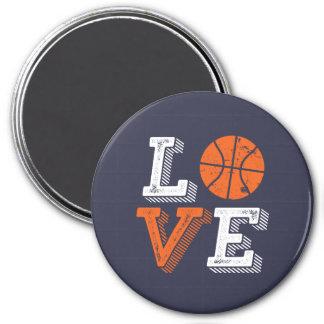 I Love Basketball Sports Games Fan Magnet