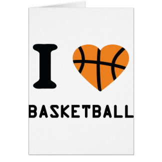 I love basketball symbol card