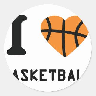 I love basketball symbol stickers