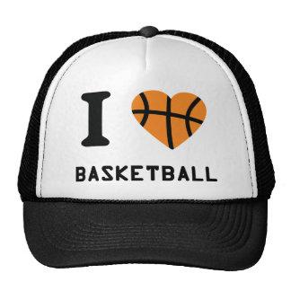 I love basketball symbol trucker hat