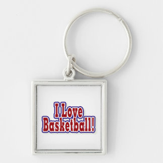 I Love Basketball T shirts and Gifts Keychain