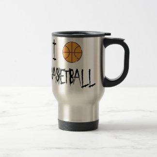 I Love Basketball Travel Mug