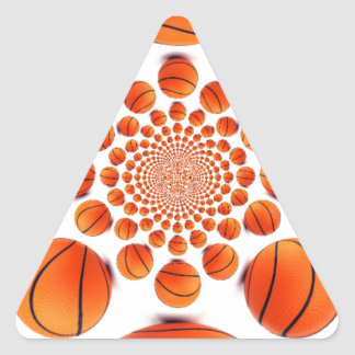 I love basketball triangle sticker