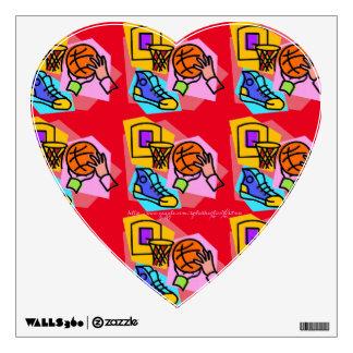 """I LOVE basketball"" Wall Sticker"