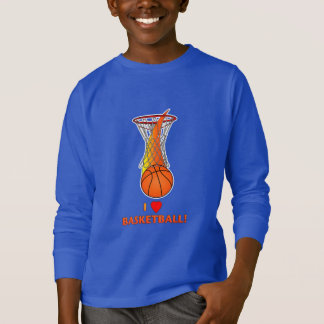I Love Basketball with Heart T-Shirt