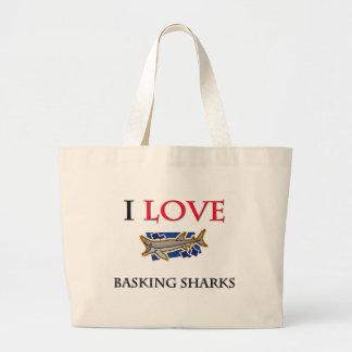 I Love Basking Sharks Canvas Bag