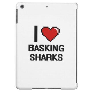 I love Basking Sharks Digital Design iPad Air Cases
