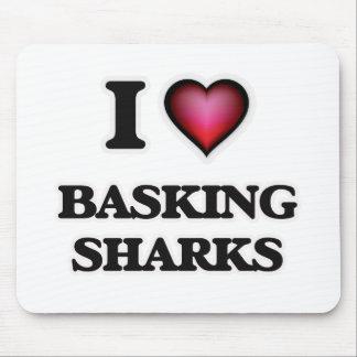 I Love Basking Sharks Mouse Pad