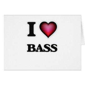 I Love Bass Card